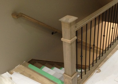 Custom 4x4 Oak Box Newel Post