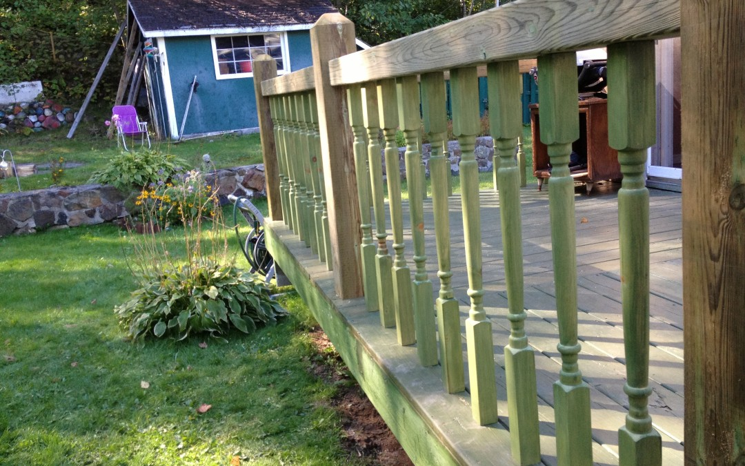 Pressure Treated Deck Railing