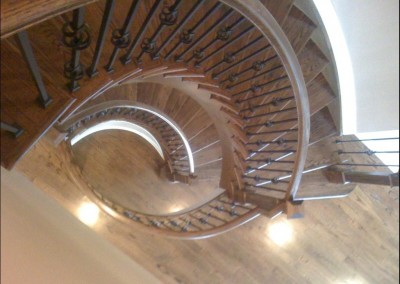 Double Spiral Oak Staircase (top view)