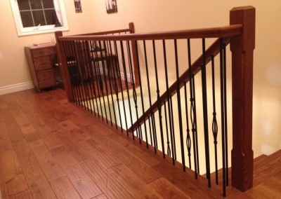 Upstairs Loft, Oak Staircase and Railings and Laminate Flooring