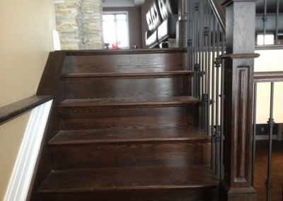 Stair Recover with Box Newel Posts