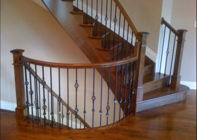 Custom Curved Oak Staircase