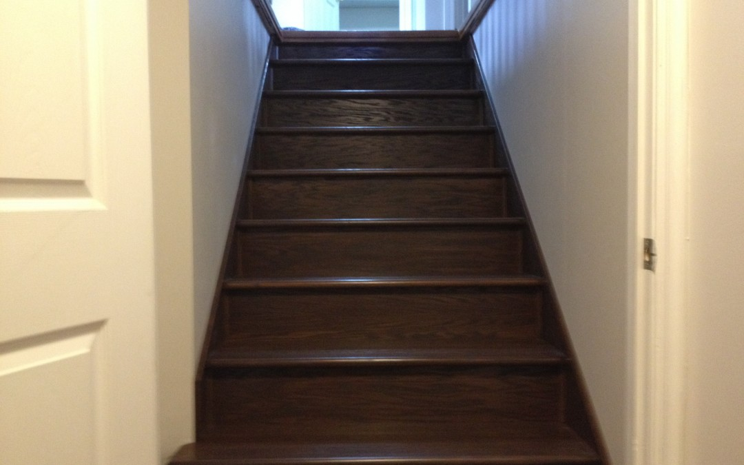 Refinishing Basement Stairs Part   46: Basement Stair Refinishing