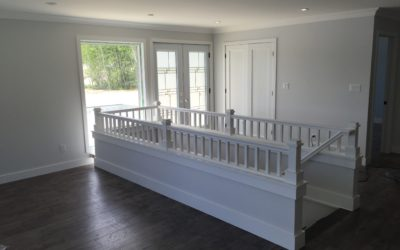 Mini railing system with 2ft wall